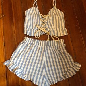 Crop top and shorts co-ord